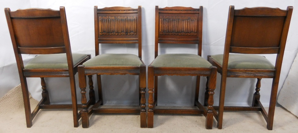 of Four Oak Dining Chairs by Old Charm SOLD