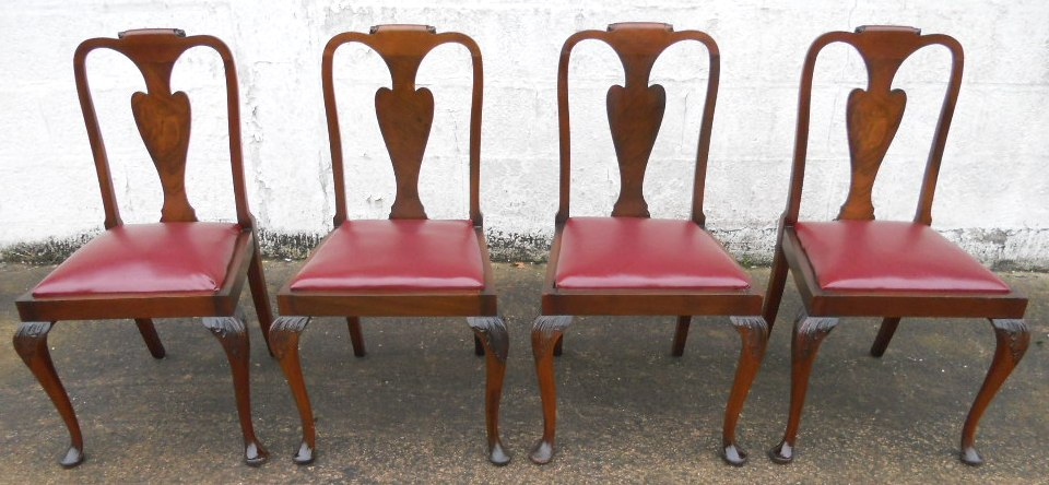 Set of Four Queen Anne Style Walnut Dining Chairs SOLD : set of four queen anne style walnut dining chairs sold 1946 p from www.harrisonantiquefurniture.co.uk size 960 x 444 jpeg 156kB