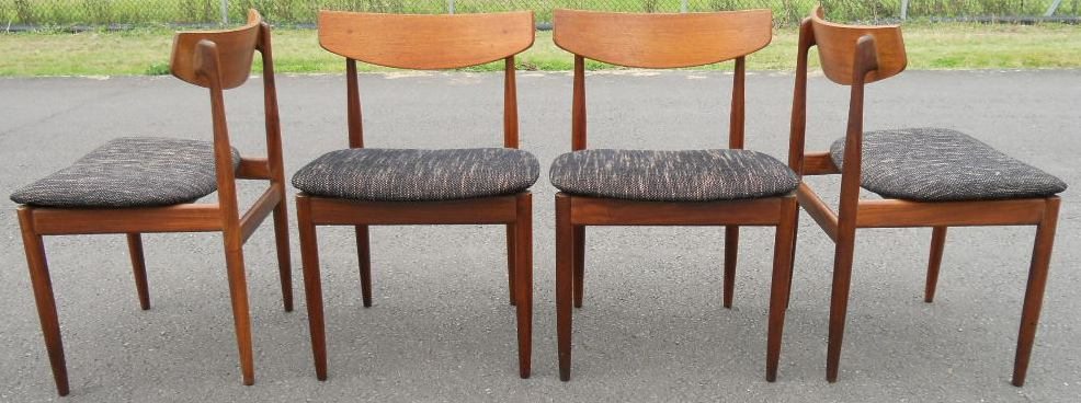 Set of four retro teak g plan dining chairs sold for G plan teak dining room chairs