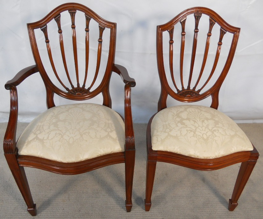 of Nine Georgian Style Mahogany Dining Chairs SOLD