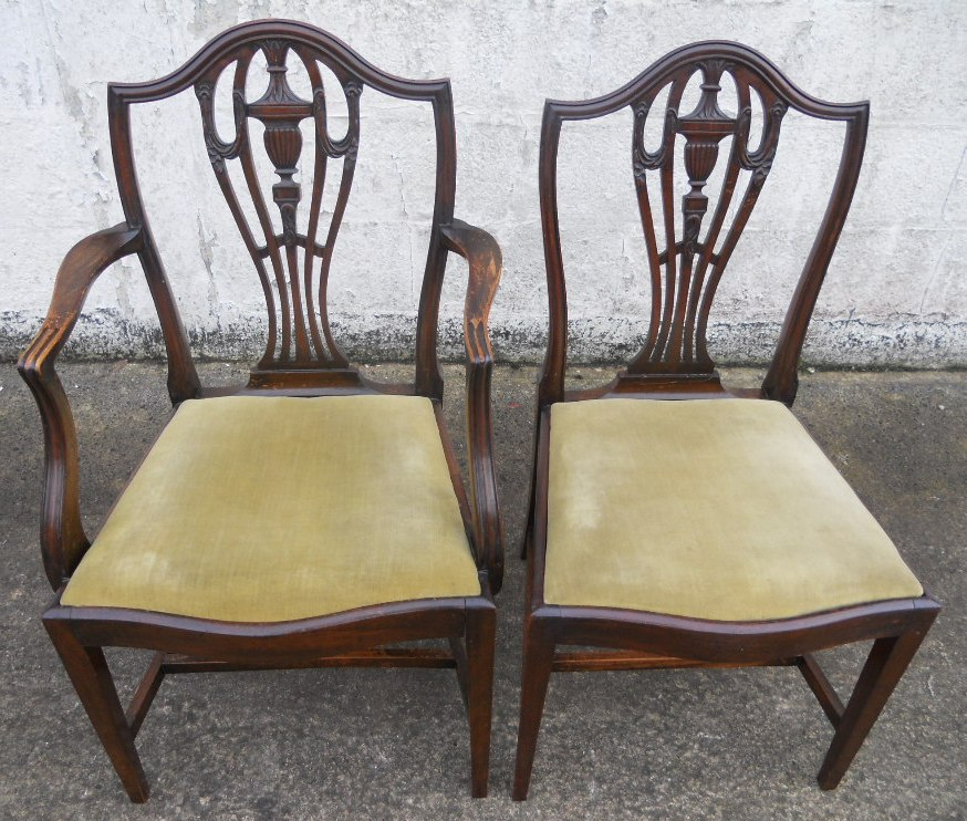 set of seven antique chippendale style mahogany dining chairs sold. Black Bedroom Furniture Sets. Home Design Ideas