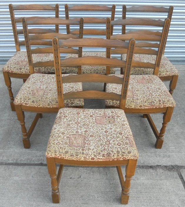 Set of Six Old Charm Oak Dining Chairs with Upholstered  : set of six old charm oak dining chairs with upholstered seats sold 1153 p from www.harrisonantiquefurniture.co.uk size 629 x 706 jpeg 189kB