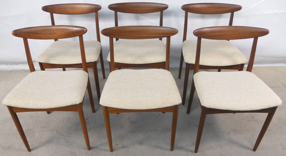 Set of six teak s retro dining chairs sold