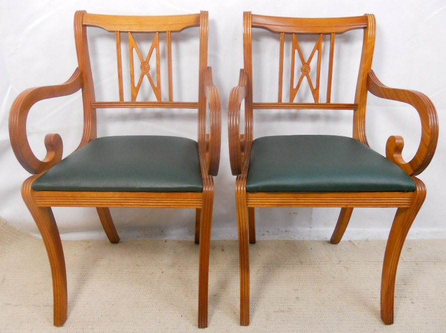 Set Of Six Yew Dining Chairs By Beresford Hicks