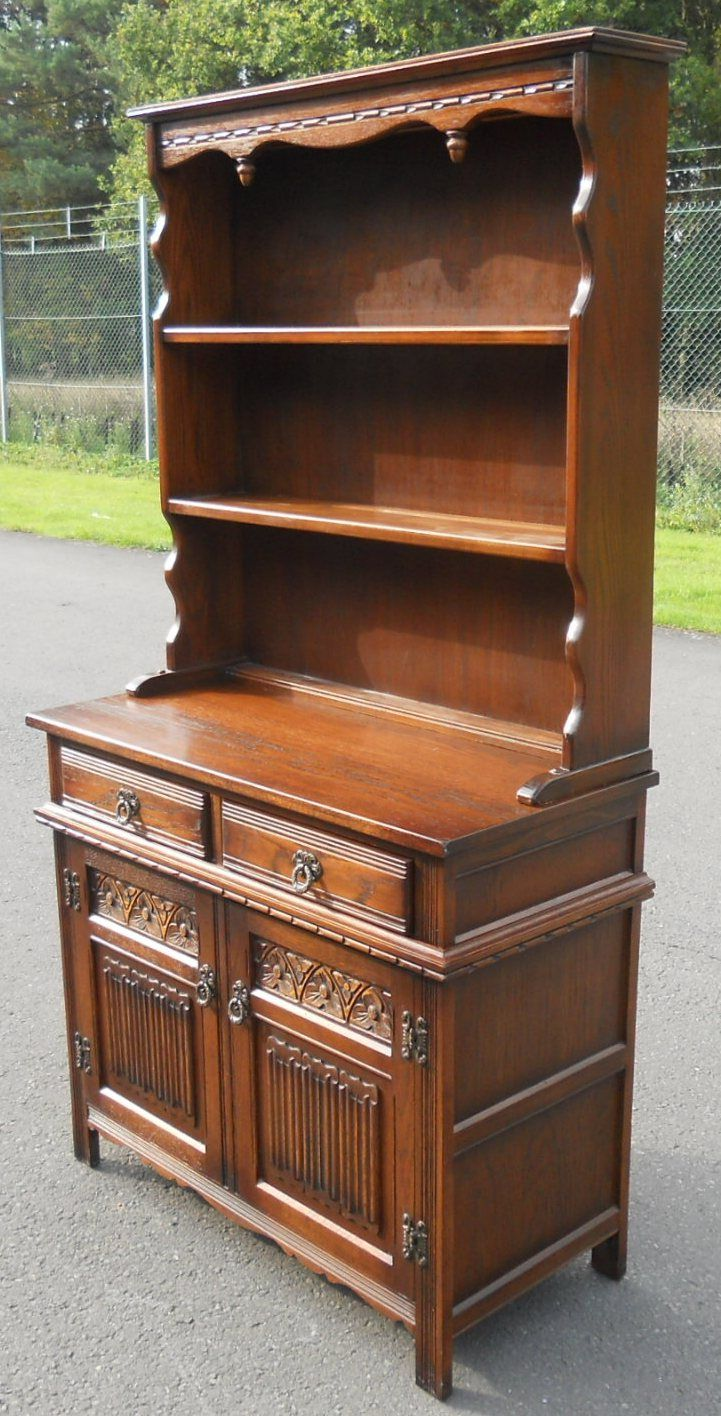 Small Antique Style Oak Dresser By Old Charm