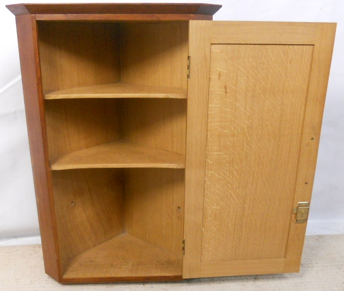 small oak hanging corner cupboard sold