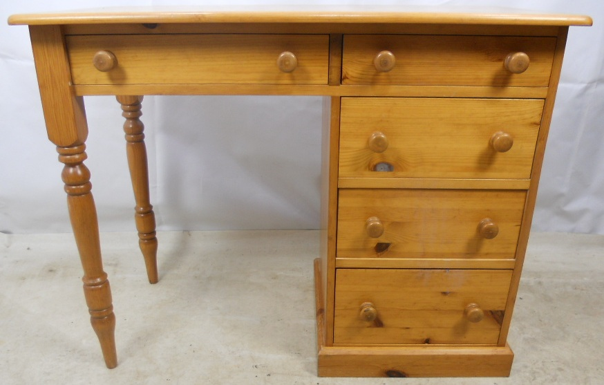 Small Pine Desk With Storage Drawers