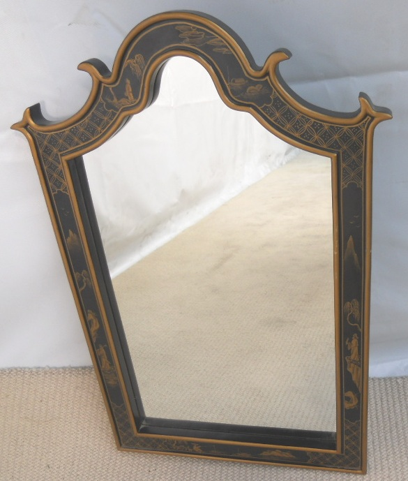 Sold Antique Oriental Style Hanging Wall Mirror