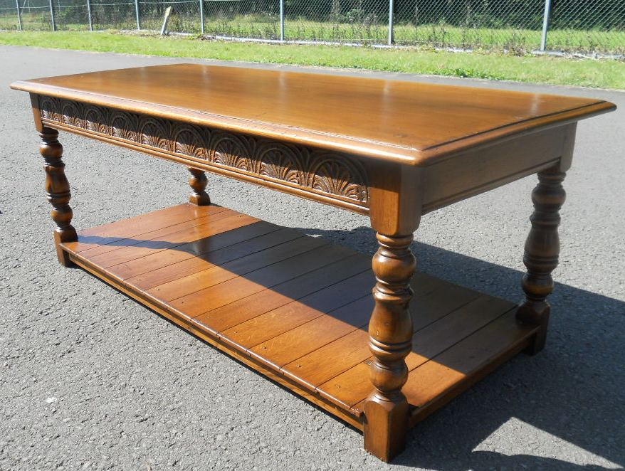 Sold Antique Style Long Oak Coffee Table