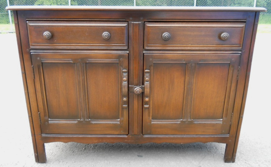 Sold elm sideboard cupboard base by ercol for Ercol mural cabinets and sideboards