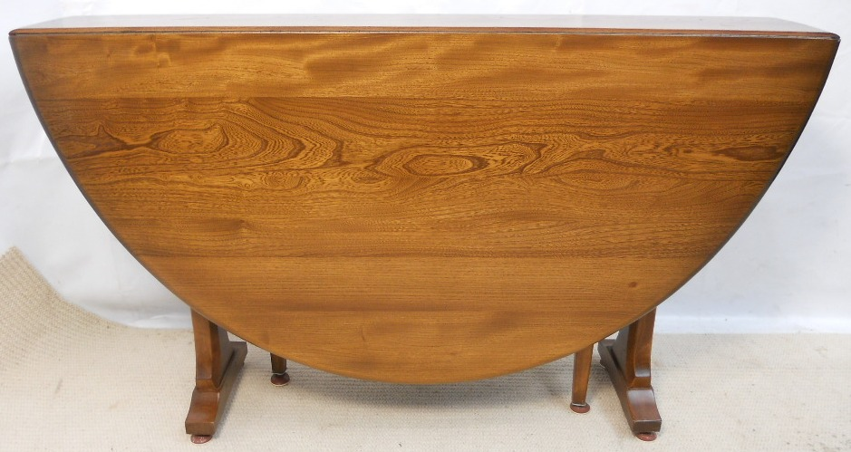 Sold Ercol Elm Spacesaver Dropleaf Dining Table To Seat Six