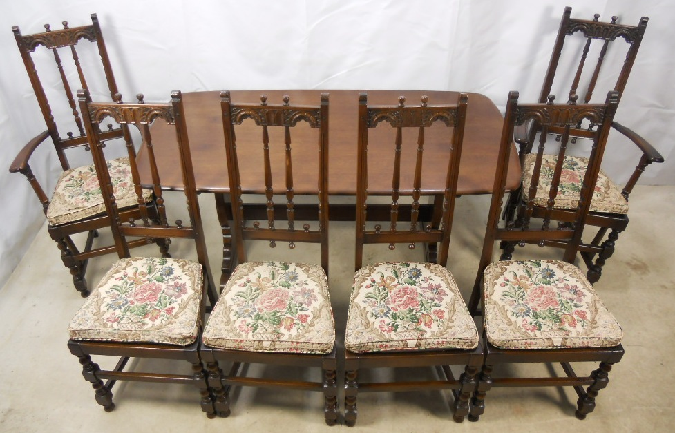 Sold Ercol Old Colonial Dark Elm Dining Room Suite