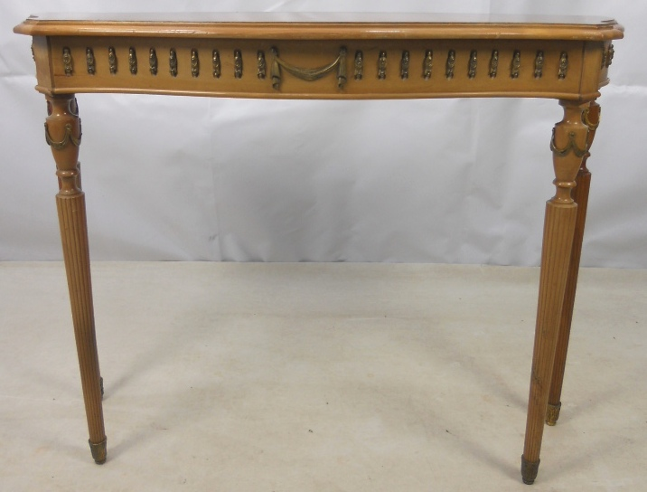 Sold georgian style serpentine yew console table for Yew sofa table