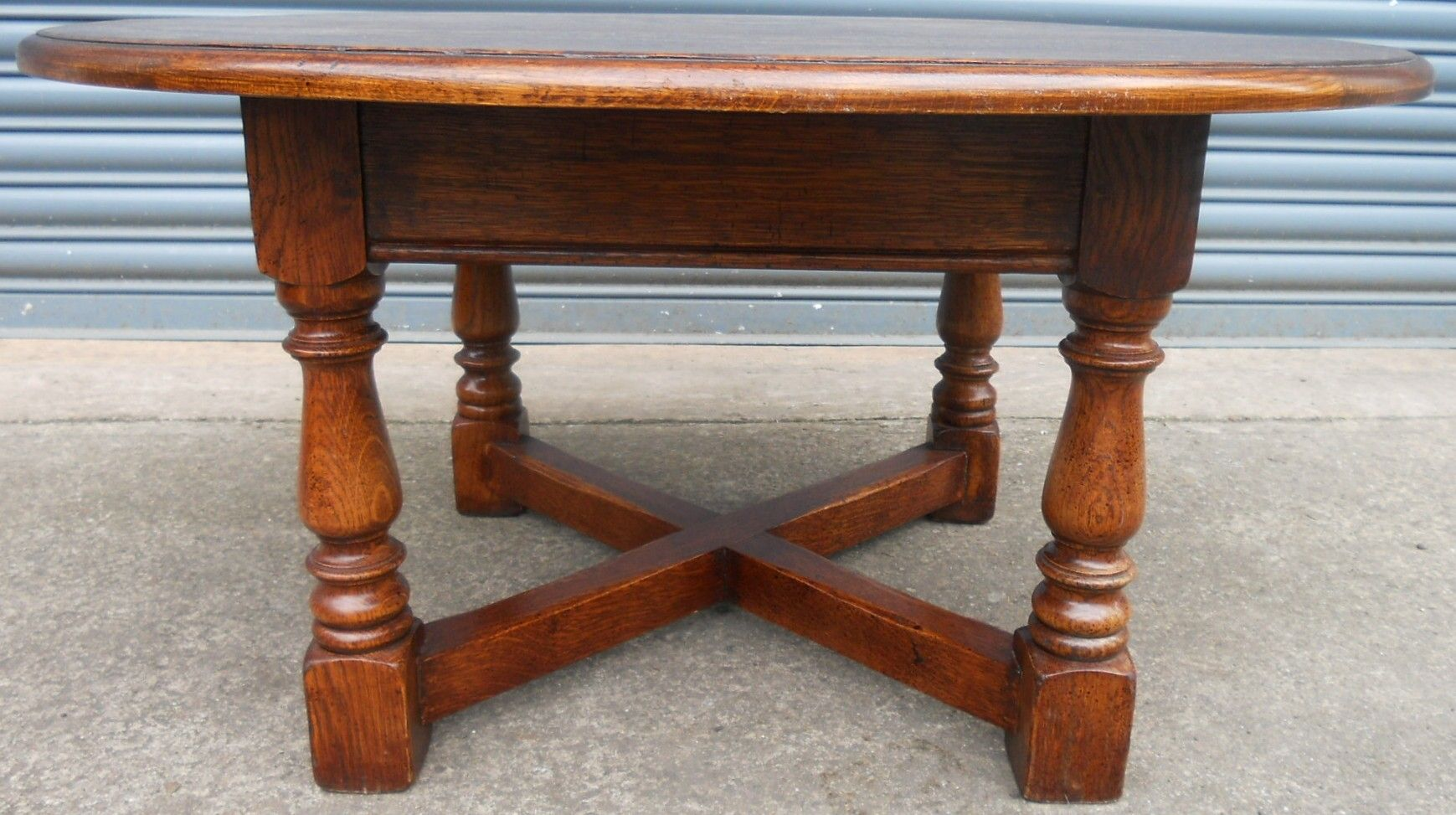 SOLD Round Oak Coffee Table
