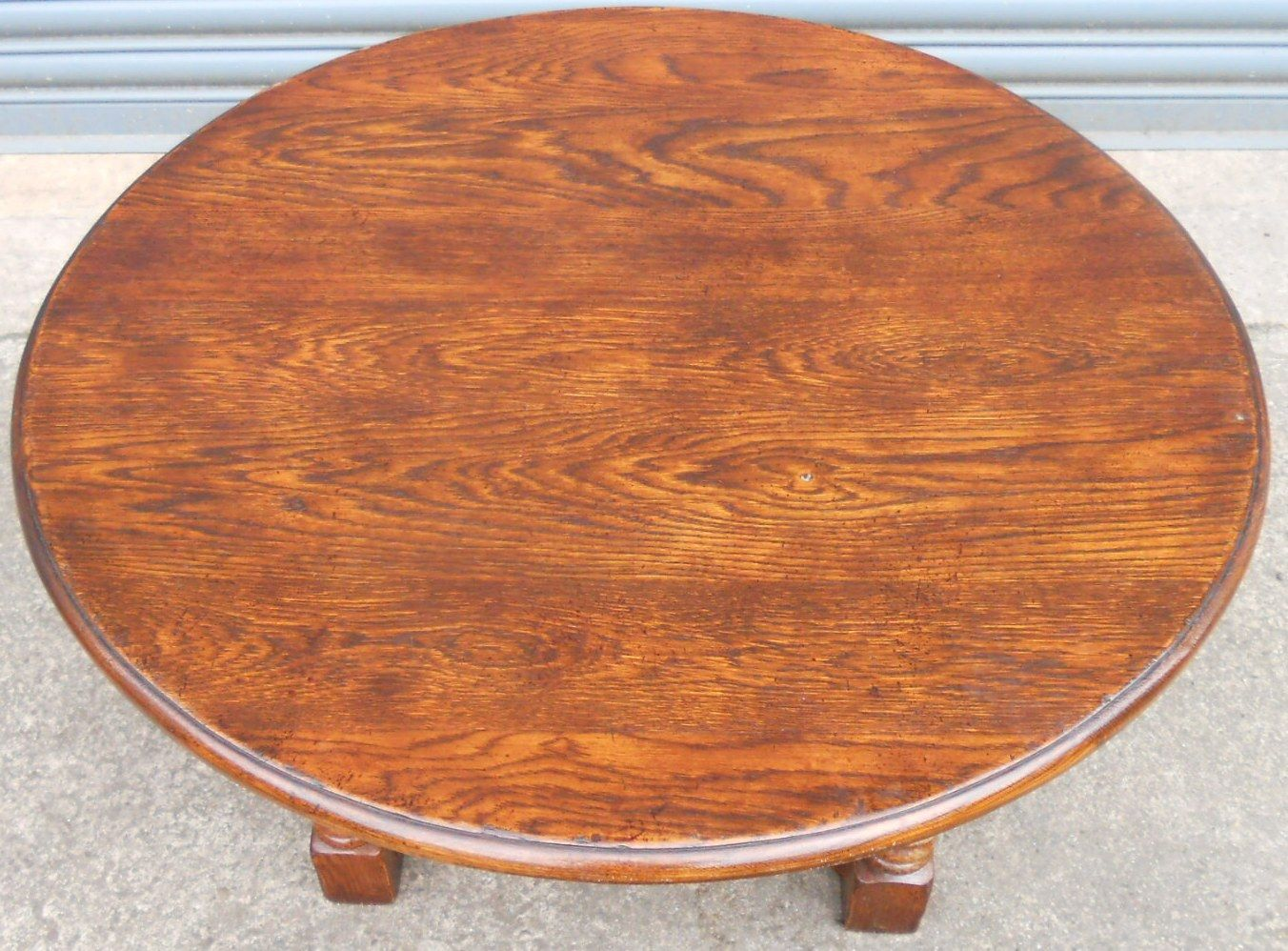 Sold Large Round Oak Coffee Table