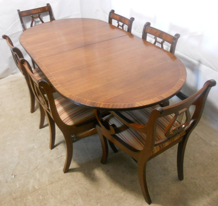 SOLD Regency Style Mahogany Extending Dining Table and  : sold regency style mahogany extending dining table and matching chairs by rackstraw 1276 p from www.harrisonantiquefurniture.co.uk size 721 x 683 jpeg 188kB