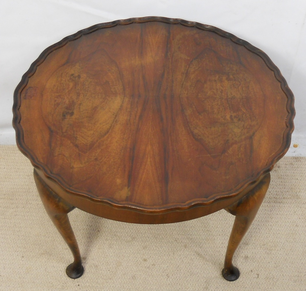 Sold Round Walnut Coffee Table
