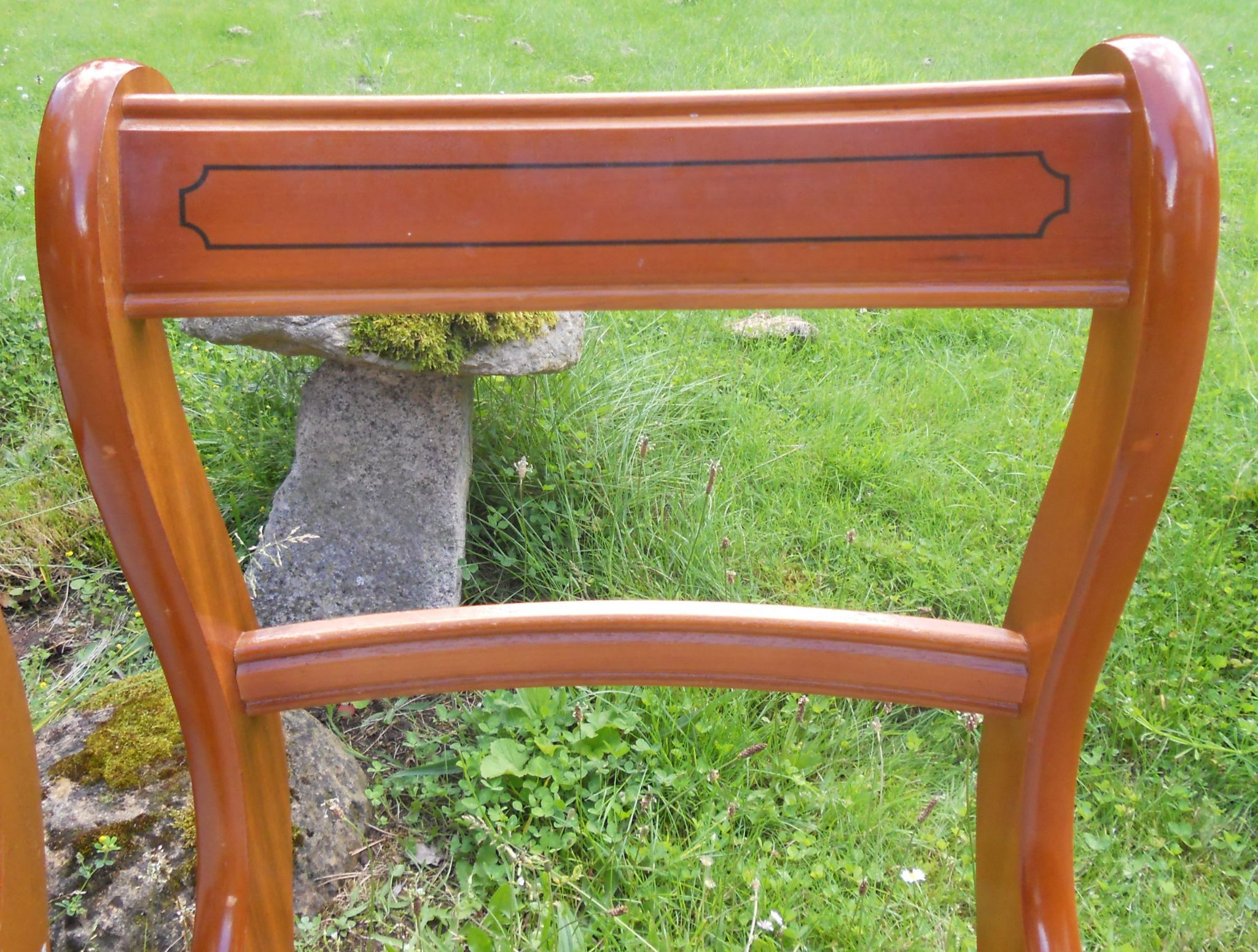 Set Of Four Regency Style Yew Dining Chairs Yew Dining