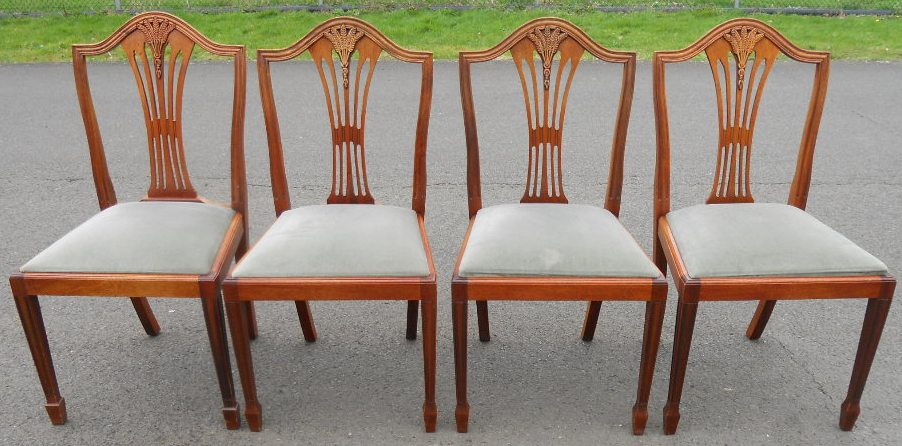 SOLD Set Of Six Yew Dining Chairs In Antique Georgian Style