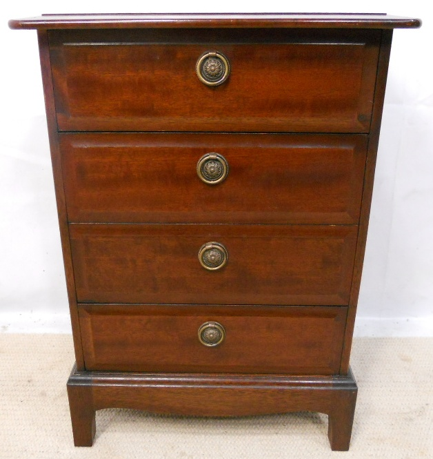 Sold small stag minstrel chest of drawers for Small bedside chest of drawers