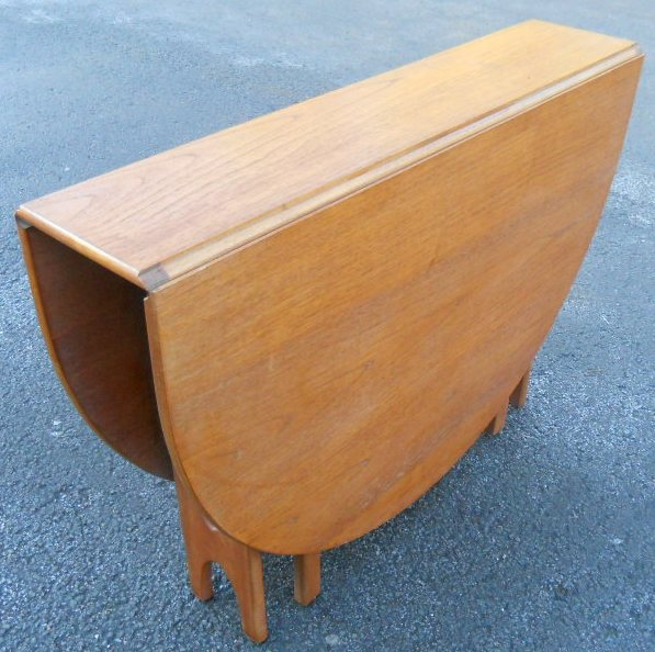 Sold Teak 1960 S Narrow Dropleaf Dining Table To Seat Six