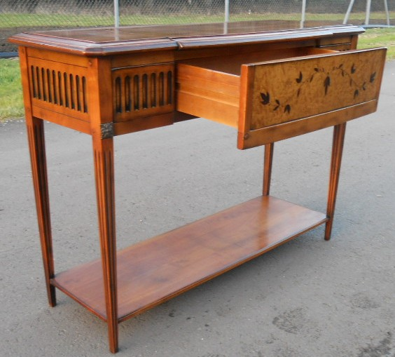 Sold walnut console side table - Table console extensible solde ...