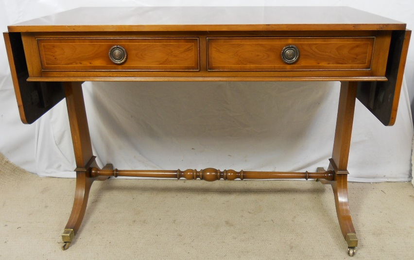 Sold yew sofa table by rackstraw for Yew sofa table