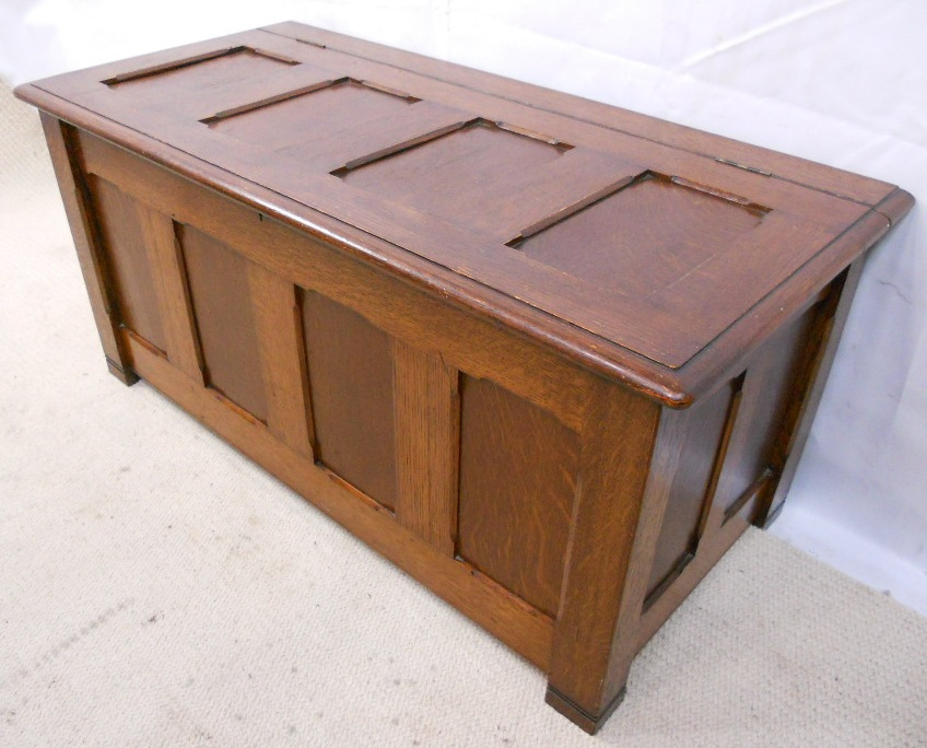 Antique Oak Coffer This Vintage Solid Oak Coffer Blanket Chest Bed Mattress Sale