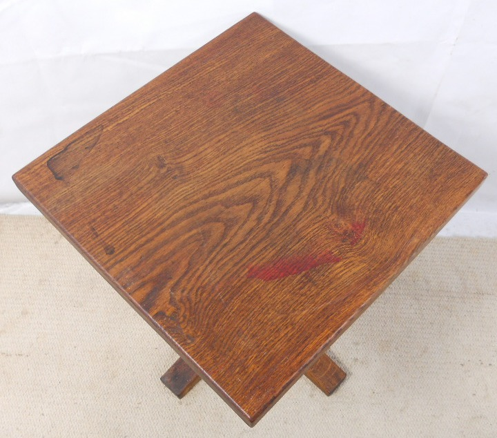 Solid Oak Square Pedestal Coffee Table