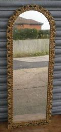 Tall narrow gilt frame hanging wall mirror sold for Long hanging mirror