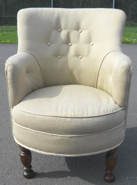 Upholstered Small Tub Armchair