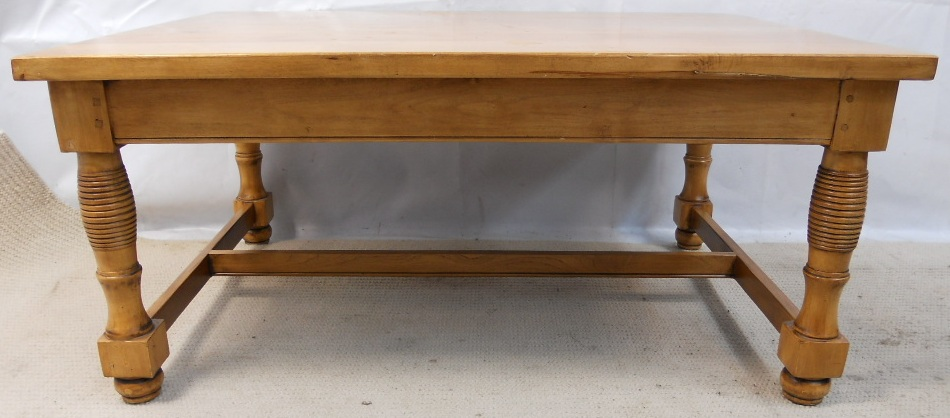 Victorian Style Large Stripped Pine Coffee Table Sold