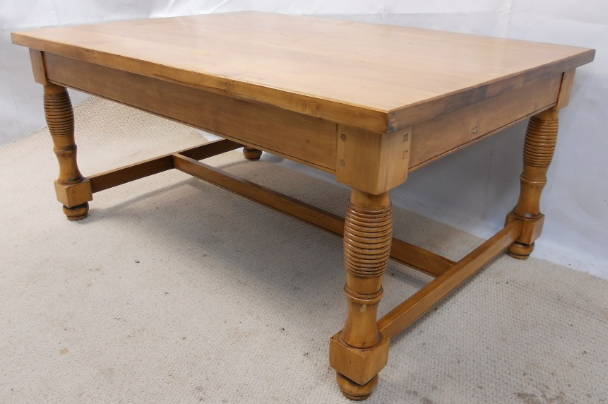 Style Large Stripped Pine Coffee Table Sold