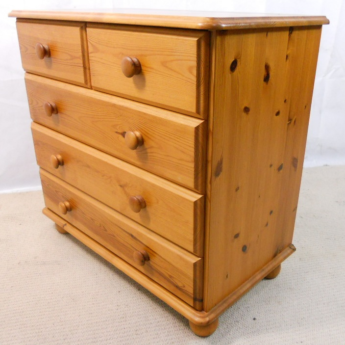 Victorian Style Small Pine Chest Of Drawers Sold