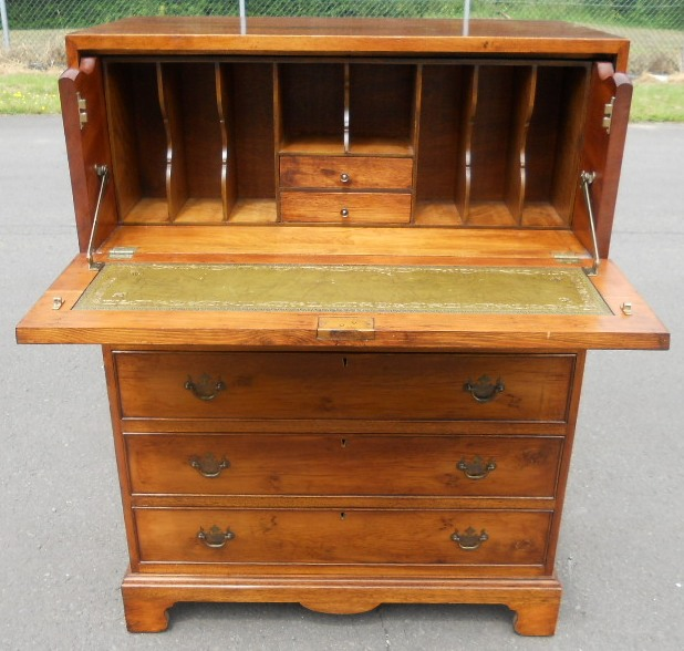Walnut Secretaire Chest Of Drawers Writing Desk Sold