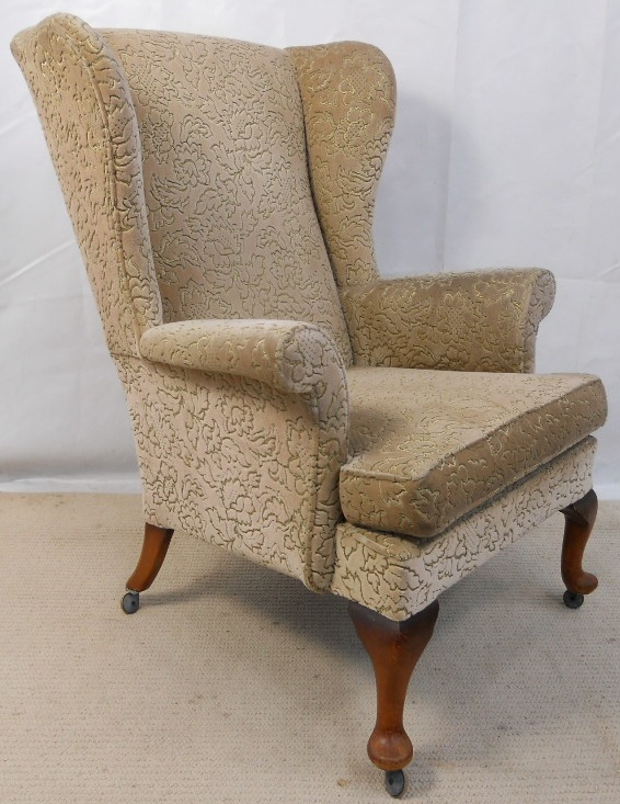 Wingback Upholstered Fireside Armchair By Parker Knoll Sold