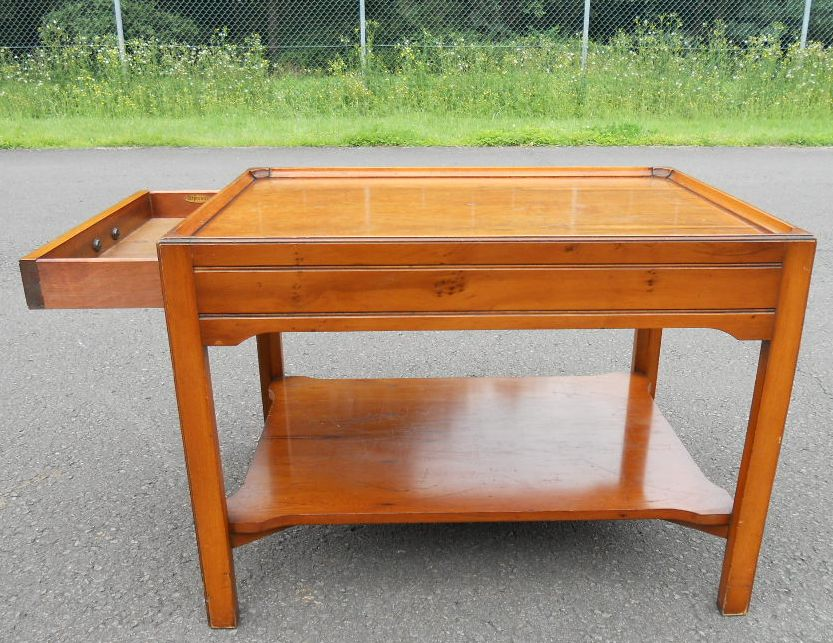 Yew two tier coffee table by reprodux sold for Yew sofa table
