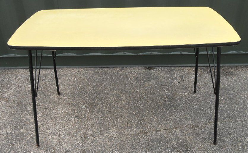 1960 s metal framed kitchen dining table