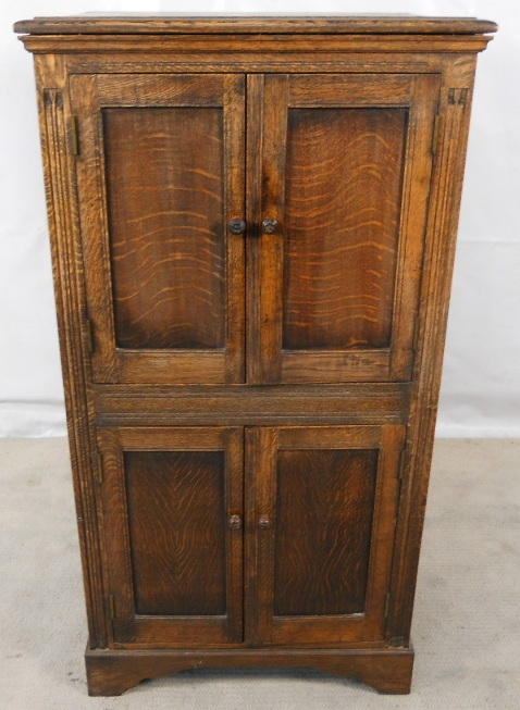 Dark Wood Cupboard Standing Panelled Beech Amp Elm Storage