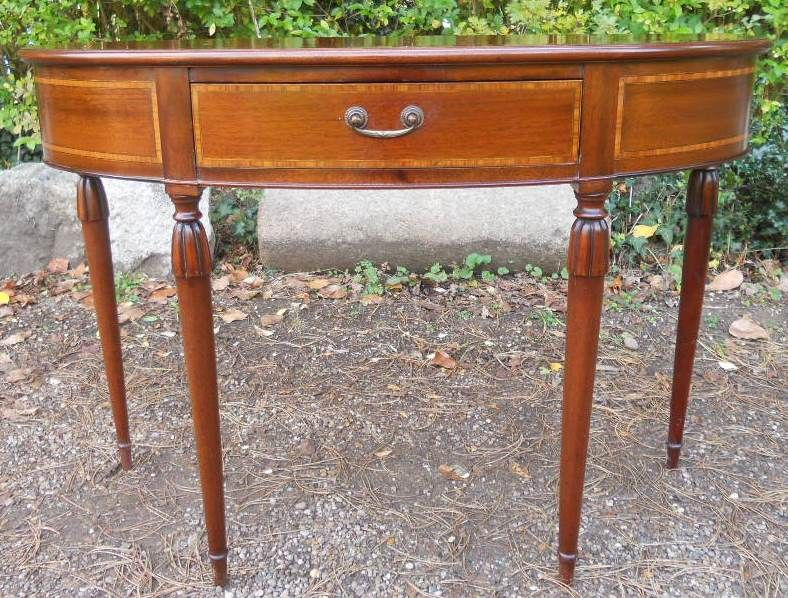 Georgian Style Inlaid Mahogany Console Table by Archer & Smith