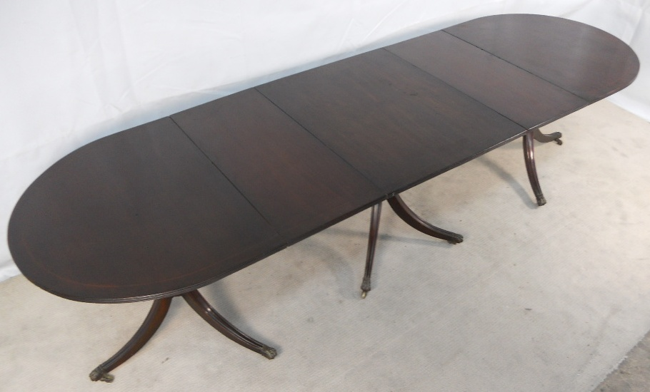Georgian Style Mahogany Extending Dining Table To Seat 12 Sold