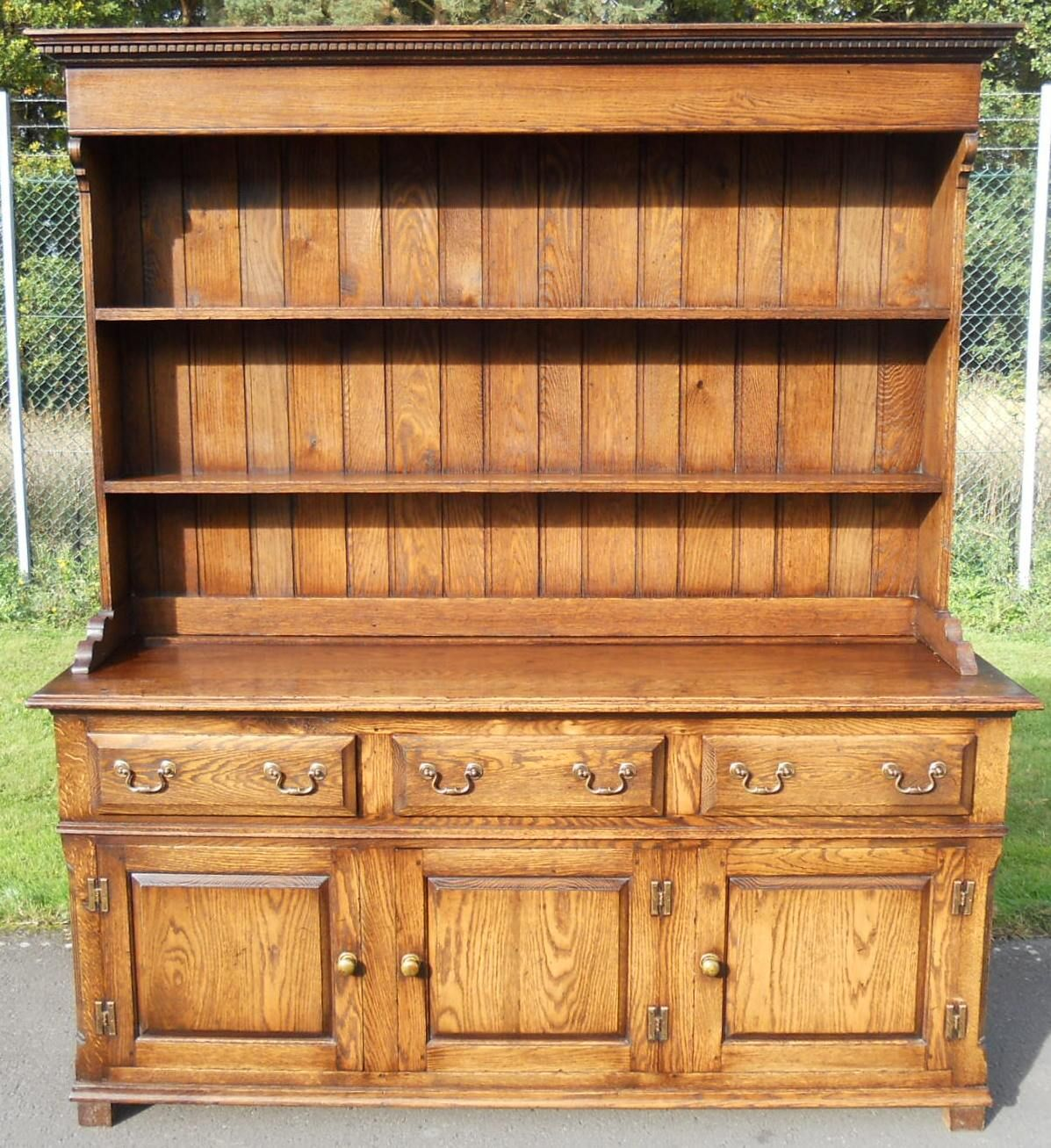 Large Antique Style Oak Dresser
