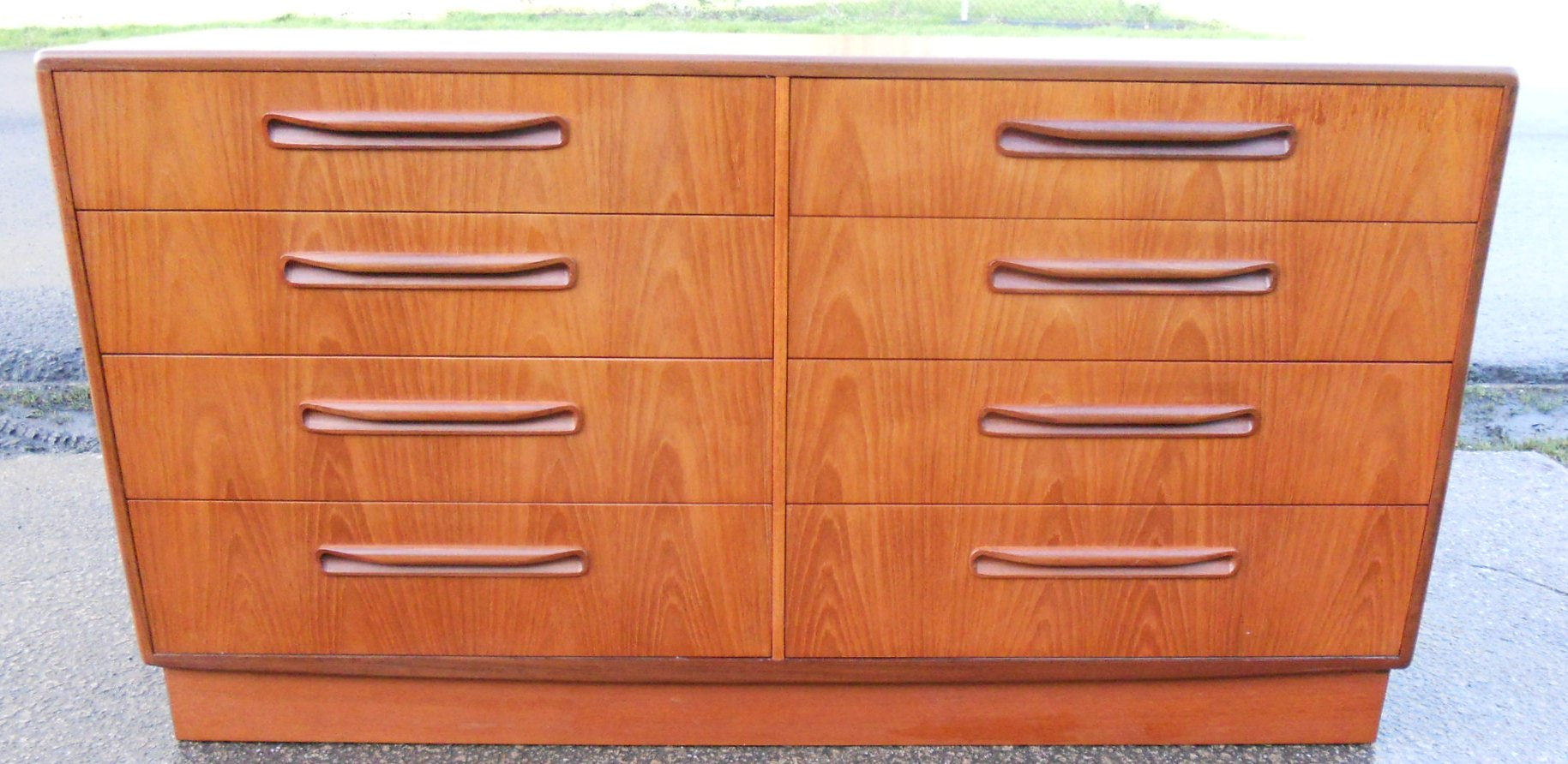 Long Teak Double Chest Of Drawers By G Plan