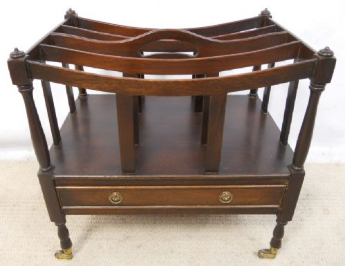 Popular Brand Antique Georgian Style Mahogany Canterbury Magazine Rack Other Reproduction Furniture Antique Furniture