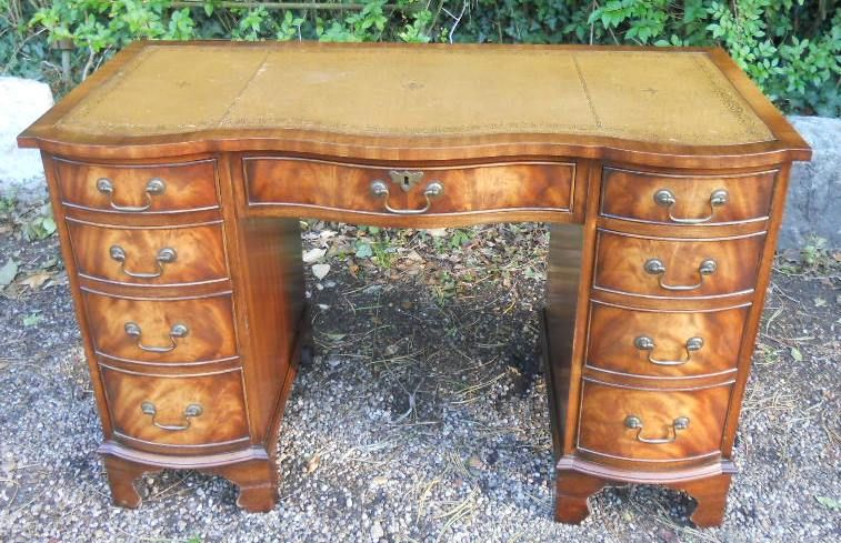 Mahogany Kneehole Writing Desk by Bevan Funnell