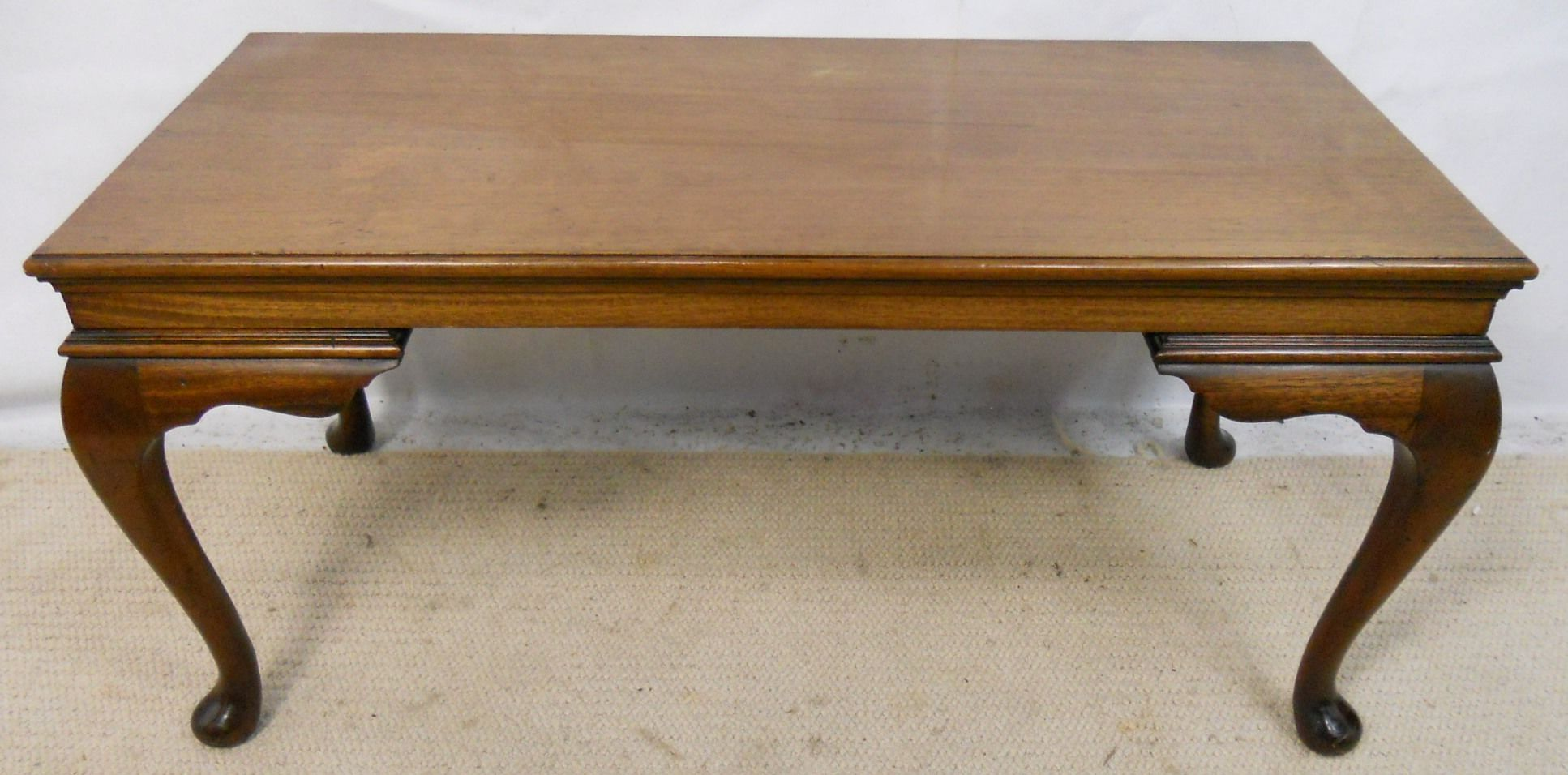 Mahogany Long Coffee Table In Antique Georgian Style