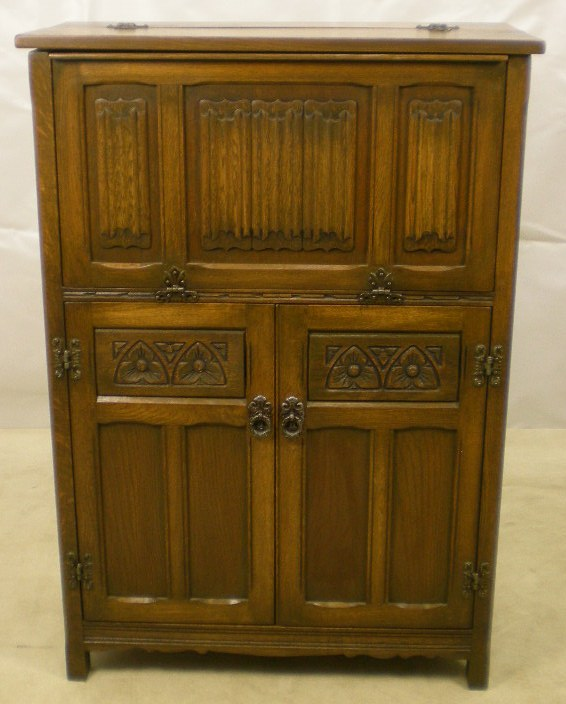 Oak Cocktail Cabinet Bar By Old Charm Sold