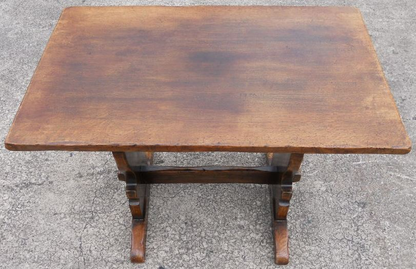 quality small oak antique style refectory dining table sold
