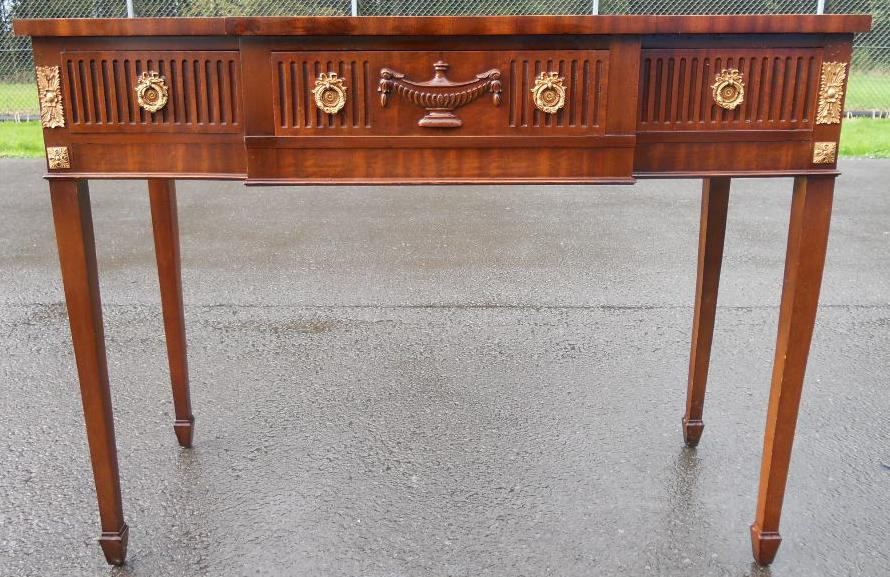 Robert Adam Style Breakfront Mahogany Serving Console Table