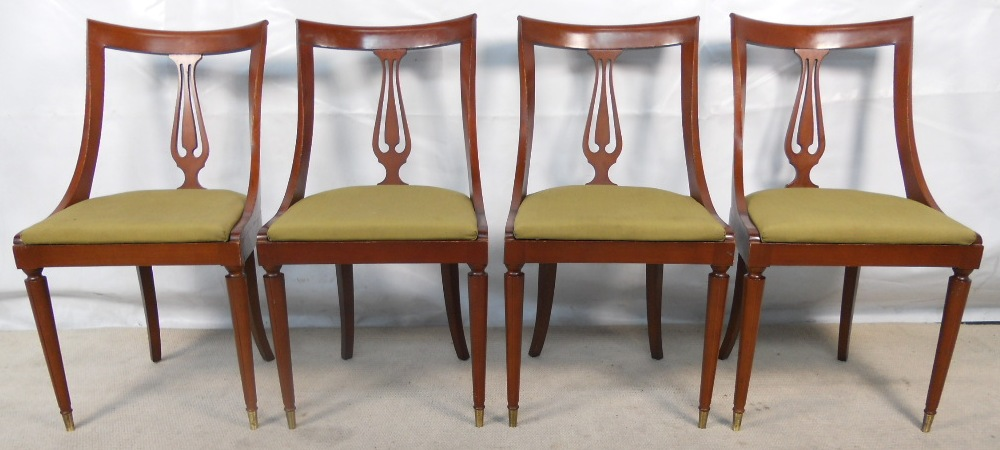 Set Of Four Mahogany Curved Back 1960 S Dining Chairs Sold